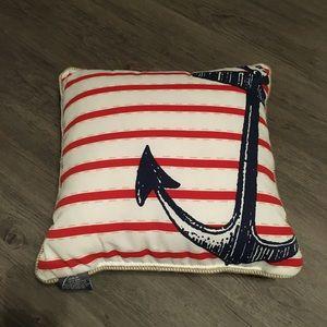 Nautical Anchor Throw Pillow
